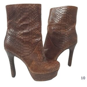 Jessica Simpson Fram Brown Snake Skin Boots